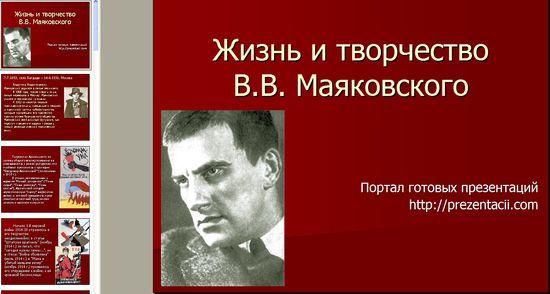 Презентация на тему биография маяковского